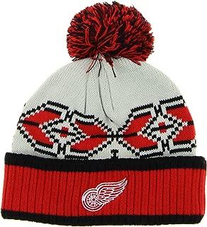 Outerstuff Detroit Red Wings NHL Men's Knit Winter Hat, Pavel Datsyuk #13 Red/Black