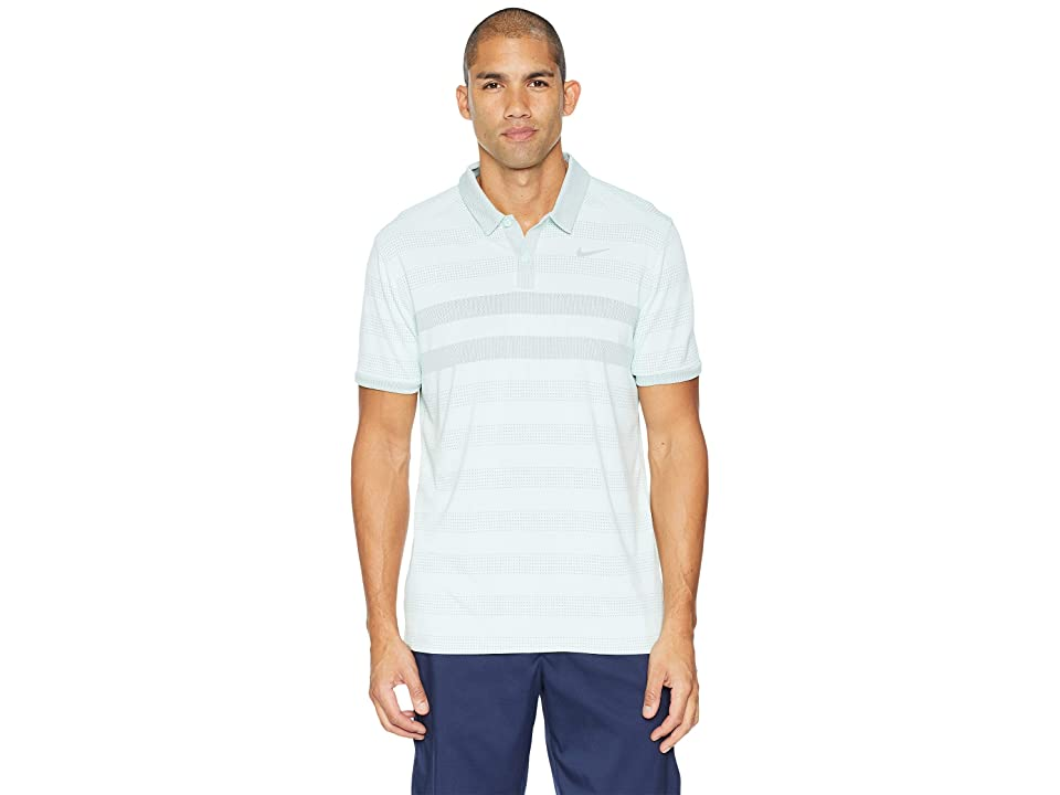 Nike Golf Zonal Cooling Stripe Polo (Igloo/Flat Silver) Men