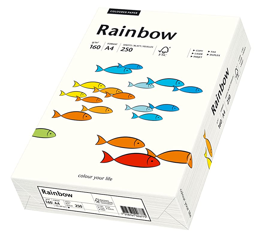 Papyrus Rainbow 88042234 Multi Purpose Paper A4 160 g/m2 250 Sheets Natural White