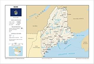 Best physical map of maine Reviews