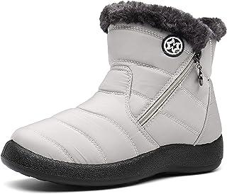 comprar comparacion Zapatos Invierno Botas de Nieve para Mujer Hombres Botines Moda Calentar Forrado Botas Tacon Zapatillas Planas 2020 Imperm...