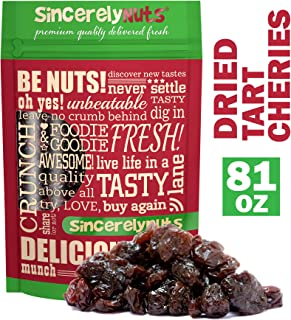 Sincerely Nuts Dried Tart Cherries (5 LB) - Vegan, Kosher, and Gluten-Free Food- Rich in Minerals and Vitamins - Powerful Antioxidants-Make Your Own Trail Mix - Add to Baked Goods, Salads, and More