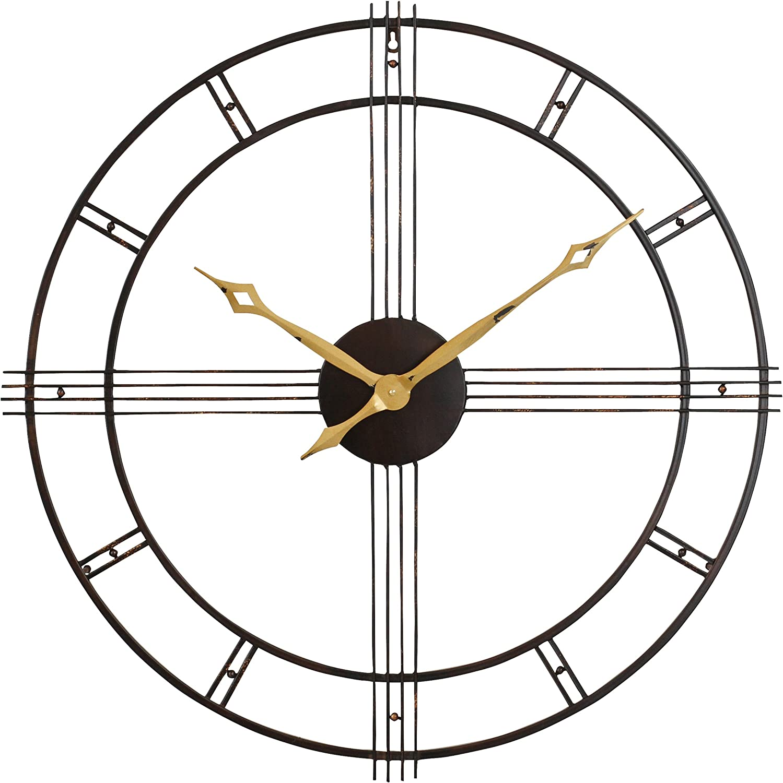 Aspire Rumi Seasonal Wrap Introduction Popularity Mid Century Brown Wall Clock