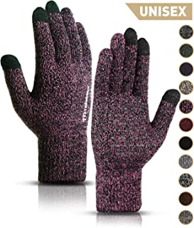 Winter Gloves for Men and Women – Upgraded Touch Screen Anti-Slip Silicone Gel..