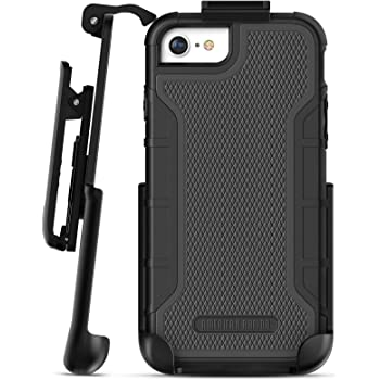 Encased Heavy Duty iPhone SE Belt Clip Case 2020 (American Armor) Rugged Full Body Case with Built-in Screen Protector and Holster (Fits iPhone 7, iPhone 8, SE) Matte Black