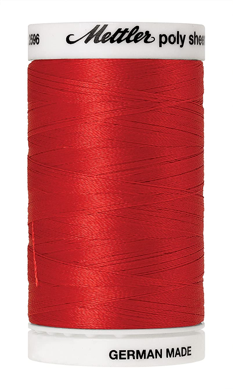 Mettler Poly Sheen Polyester Embroidery Thread, 800m/875 yd, Poppy