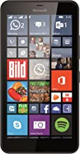Microsoft Lumia 640 XL 8GB Quad-Core Windows 8.1 Single Sim Smartphone (GSM Unlocked) - Black (Renewed)