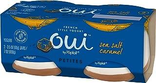 Oui Petite by Yoplait French Style Yogurt, Salted Caramel, 2 pack, 7 oz