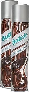 Champú seco Batiste Divine Dark con un toque de color para cabello negro y marrón oscuro para todo tipo de cabello paque...