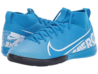 Nike Kids Jr Superfly 7 Academy IC Soccer (Little Kid/Big Kid) (Blue Hero/White/Obsidian) Kids Shoes