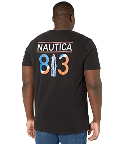 Nautica Big & Tall Big Tall Short Sleeve T-Shirt Crew Neck (True Black) Men