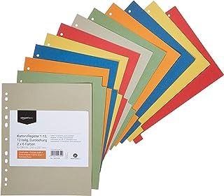 AmazonBasics – Register, van gerecycled manilapapier, geperforeerd volgens de Europese standaard, extra breed, 24 x 29,7 c...
