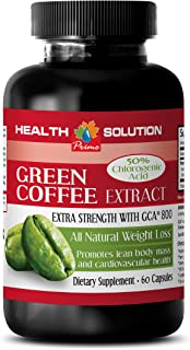 Fat Burner and carb Blocker - Green Coffee Bean Extract - Extra Strength with GCA 800 - Green Coffee Cleanse Pill - 1 Bott...