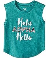 Roxy Kids - Hola Hello Muscle Tee (Toddler/Little Kids/Big Kids)