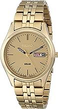 Seiko Men's Goldtone Dial Solar Calendar Watch