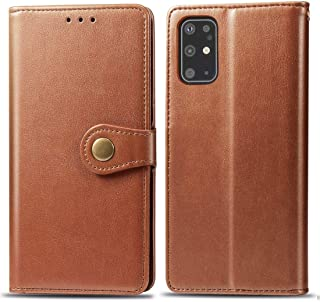 For Galaxy S11 Retro Solid Color Leather Buckle Mobile Phone Protection Leather Case with Photo Frame & Card Slot & Wallet & Bracket Function New (Black) Lyaoo (Color : Brown)