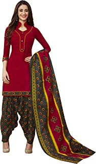 Jevi Prints Women's Cotton Printed Straight Stitched Salwar Suit Set (ND-1936)