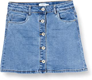 Name It Girls' NKFRANDI DNMTECES 1455 ASHAPE Skirt NOOS
