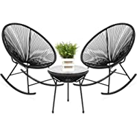 3-Piece Best Choice Products Patio Woven Rope Acapulco Bistro Set