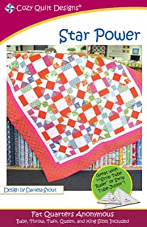 Star Power Quilt Pattern, a Cozy Quilt Fat Quarters Anonymous Pattern, 5 Size Options