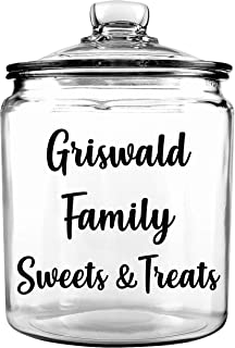 Family Cookie Jar - Personalized Cookie Jar - Custom Cookie Jar - Christmas Cookie Jar - Treat Jar - Gift for Mothers Day - Glass Cookie Jar - Cookie Jar with Lid