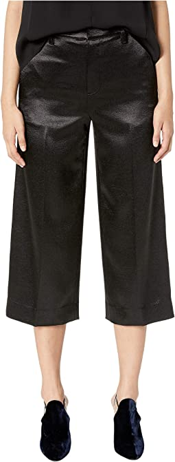 Metallic Crop Wide Crop Pants