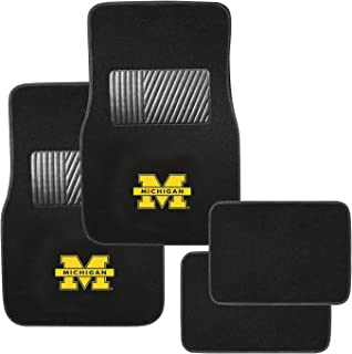 Pilot Alumni Group FM-902 Universal Fit Four Piece Floor Mat Set (Collegiate Michigan Wolverines)
