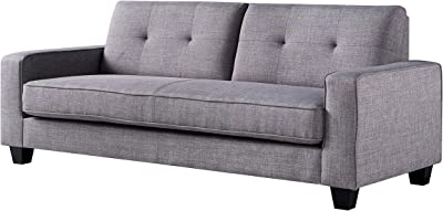 Amazon Com Signature Design By Ashley Jarreau Contemporary Upholstered Sofa Chaise Sleeper Gray Furniture Decor