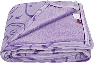 """SOCHOW Uragiri Flannel Plush Throw Blanket, Warm Lightweight Super Soft Blanket 60"""" × 80"""",Purple"""