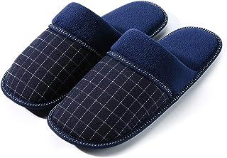 f29c2975a32f9 Pantoufles Hommes | Chaussons Hommes Intérieur - Anti-Slip - Chaud - Léger  - Bleu
