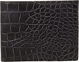 Bosca - Vintage Croco - Eight-Pocket Deluxe Executive Wallet