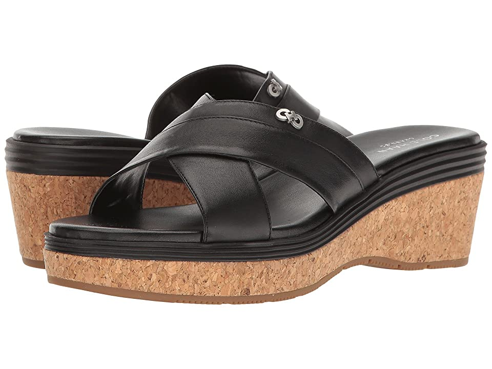 Cole Haan Briella Grand Sandal II (Black Leather/Black/Cork) Women