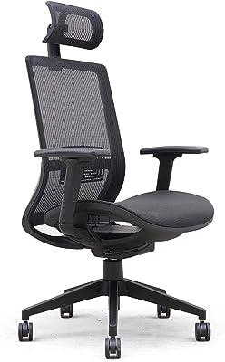 "Lorell Mesh Task Headrest Chair, 49"" x 27"" x 26.5"", Black"