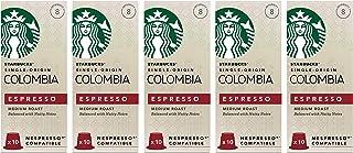 Starbucks 星巴克 哥伦比亚胶囊咖啡 兼容Nespresso咖啡机(5包,共50个胶囊)