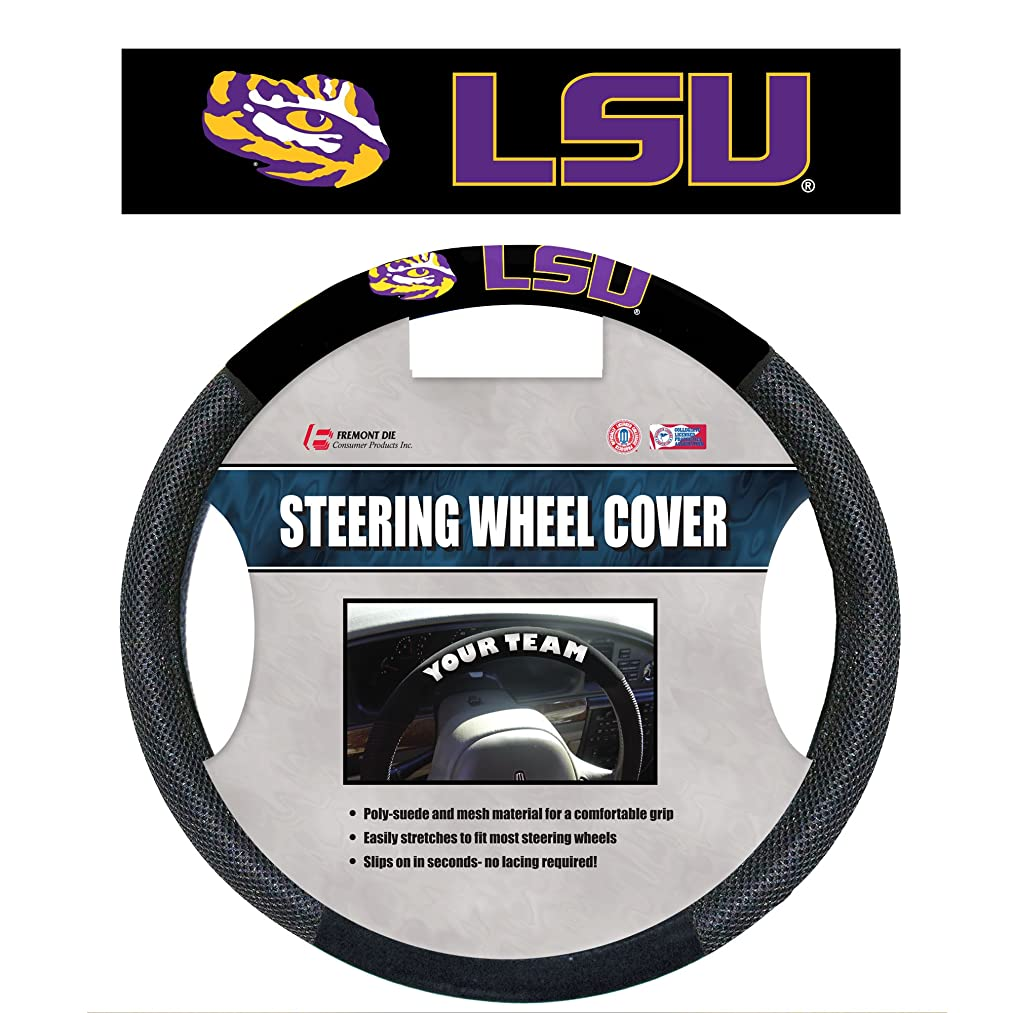 Fremont Die NCAA Poly-Suede Steering Wheel Cover