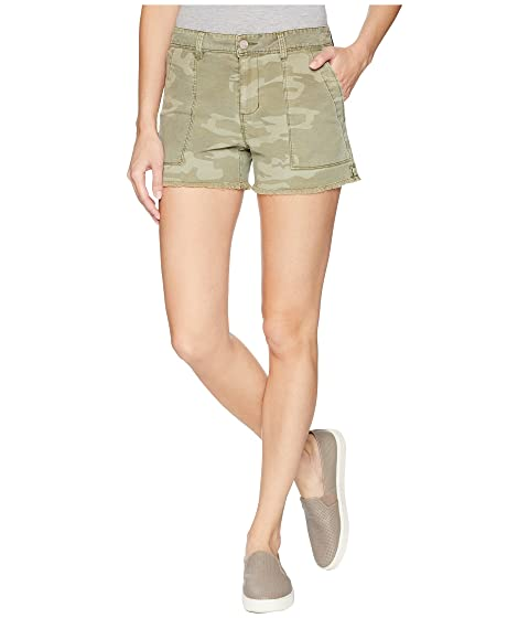 Traverse Fray Hem Shorts, Washed Cadet Camo