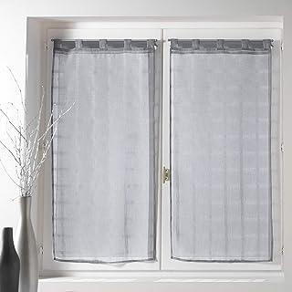 douceur d'intérieur 1622963 Paire Droite Voile Sable Candide Polyester Gris 2 x 60 x 120 cm