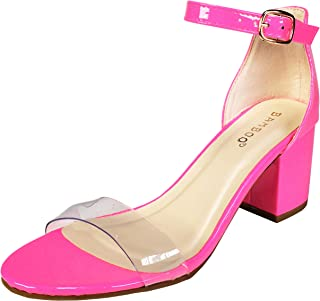 2fac6b5094 Amazon.com: Pink - Heeled Sandals / Sandals: Clothing, Shoes & Jewelry