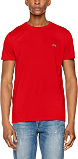 Lacoste Crew Neck Pima Cotton Jersey T-shirt for Men in Red, Size:4/M