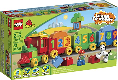 LEGO DUPLO 10558  Number Train by LEGO (English Manual)