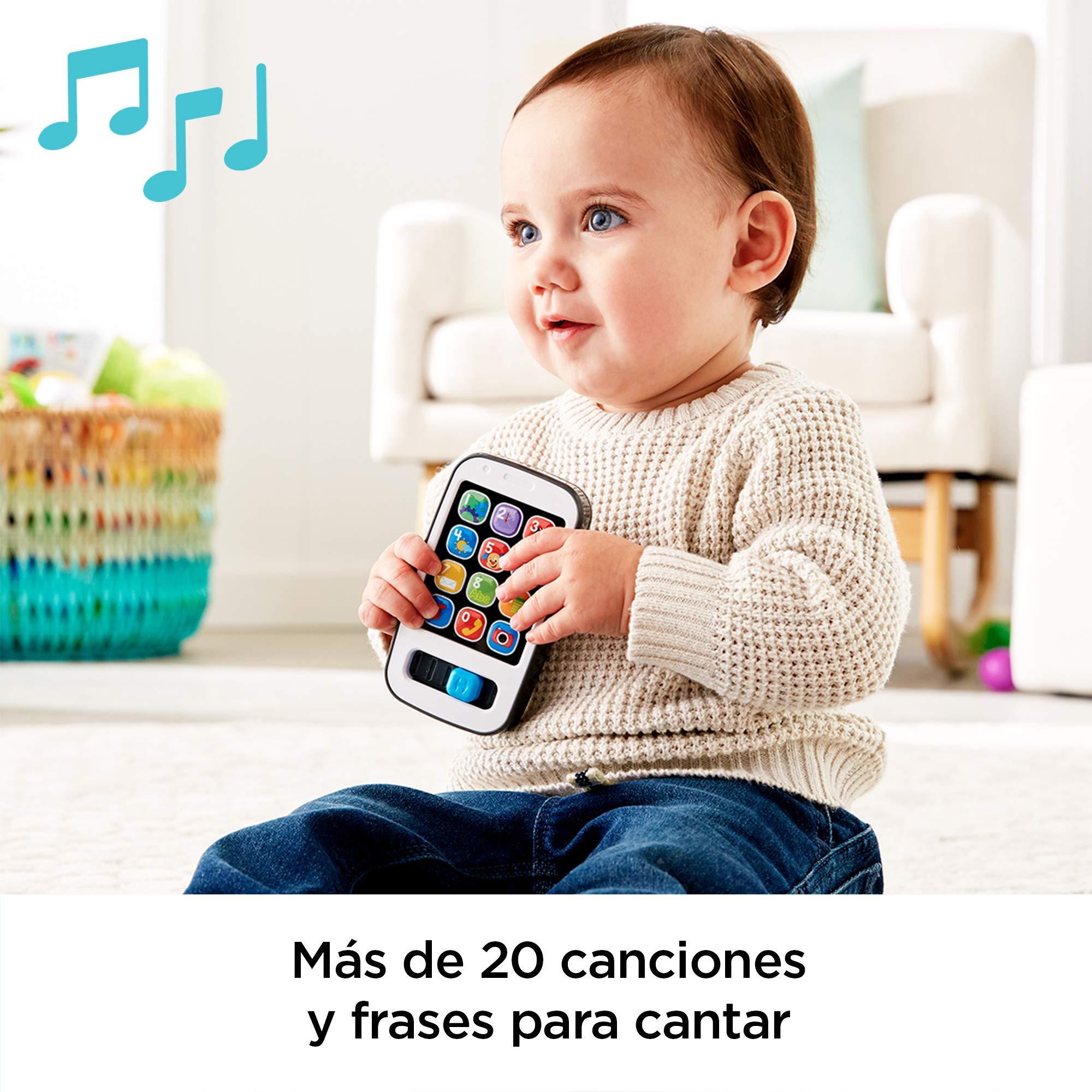 Fisher-Price Mi primer teléfono descubrimiento, juguete bebé +6 ...