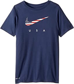 Dri-Fit Americana Short Sleeve T-Shirt (Little Kids/Big Kids)