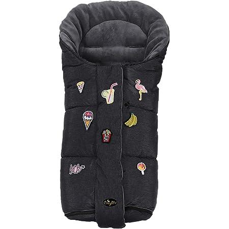 Baby Stroller Pushchair Sleeping Bag Footmuff Faux Fur Warm Light Grey//Pink