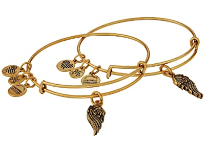 Alex and Ani Wings Set of 2 (Rafaelian Gold) Bracelet