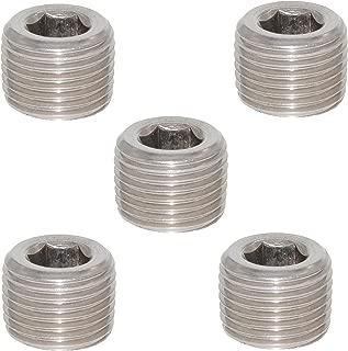 Joyway 5Pcs Stainless Steel Internal Hex Thread Socket Pipe Plug 1/16