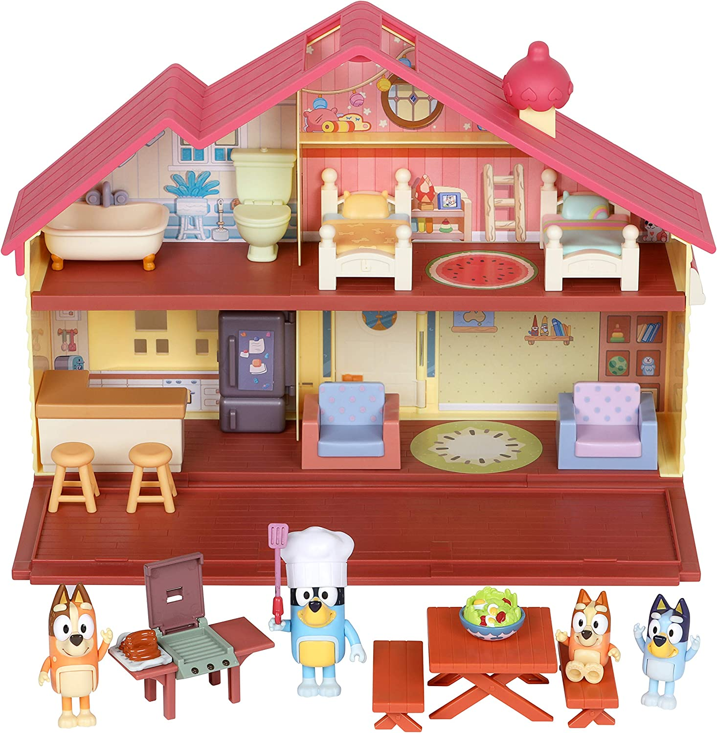 Bluey Mega Bundle Home Max 88% OFF Cheap SALE Start BBQ Playset Amazon 4 Figures and Excl