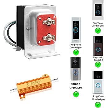 16v 30va Doorbell Transformer Compatible With Ring Video Doorbell Pro Nest Hello And Zmodo Smart Greet Wi Fi Video Doorbell Hardwired Door Chime Transformer Amazon Com