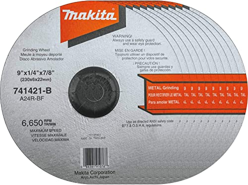 high quality Makita 741421-B-10 9-Inch discount Grinding Wheel, lowest 10-Pack online sale