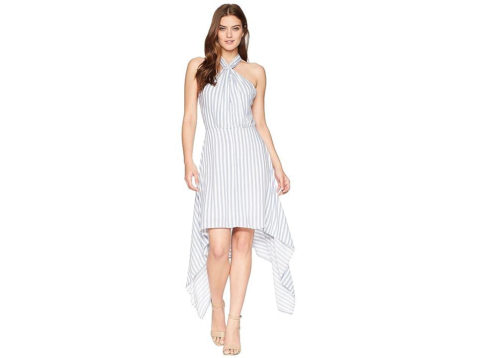 Bishop + Young Ana Halter Dress (Blue/White Stripe) Women