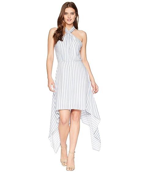 BISHOP + YOUNG Ana Halter Dress, Blue/White Stripe